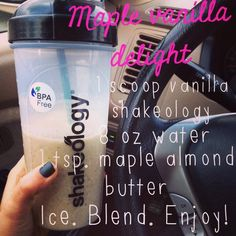 My new favorite shakeology recipe!! It is like having dessert for breakfast! And it is 21 Day Fix approved!! Www.facebook.com/ambercoxfitness