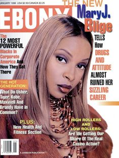 Jet Magazine, Black Magazine, Ebony Magazine Cover, Magazine Covers, Mary J Blige, New Jack Swing, Essence Magazine, Vintage Black Glamour, Hip Hop And R&b