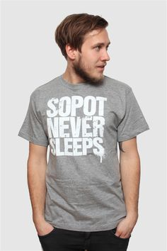 Sopot Never Sleeps Men`s T-Shirt #sopotneversleeps #sopot #monciak #fashion #everydayparty #t-shirt #souvenir #gift #clothing