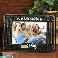 Seattle Seahawks Art-Glass Horizontal Picture Frame