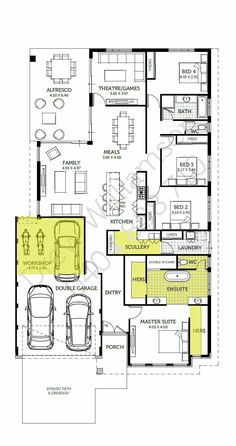 House Layout Design, House Floor Design, Home Design Floor Plans, House Layouts, Plan Design, 5 Bedroom House Plans, Modern House Floor Plans, Dream House Plans, Small House Plans