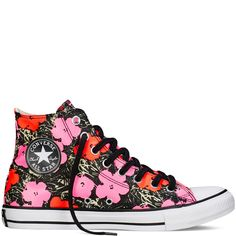 b8f3cc51cd131 These. Yes. Chuck Taylor All Star Andy Warhol Floral Poppy Red Fuchsia  Purple