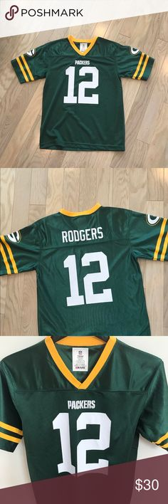 Description  NWOT—Never Worn—Official NFL Aaron Rodgers Green Bay Packers  Youth Jersey. 2e229d0ce