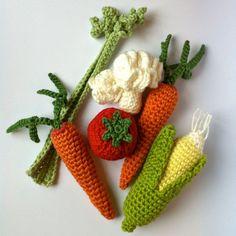 8 Crochet Fruit & Vegetables / Crochet Vegetables by LittleConkers, £30.00