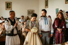 Iulia-Andrei-traditional romanian wedding_land of white deer Wedding Pants, Wedding Attire, Traditional Wedding Dresses, Traditional Outfits, Romanian Wedding, Rustic Bohemian Wedding, Diy Clothes, Fantasy, Costume
