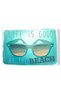 Oliver Gal 'Life Is Good at the Beach' Wall Art | Nordstrom $98.00