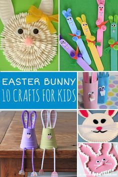 Super cute Easter bunny crafts for kids to make!