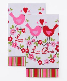 Make just the love birds with small heart above them, and the fabric hem.