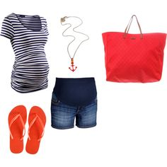 Maternity Summer cute minus the sailor necklace