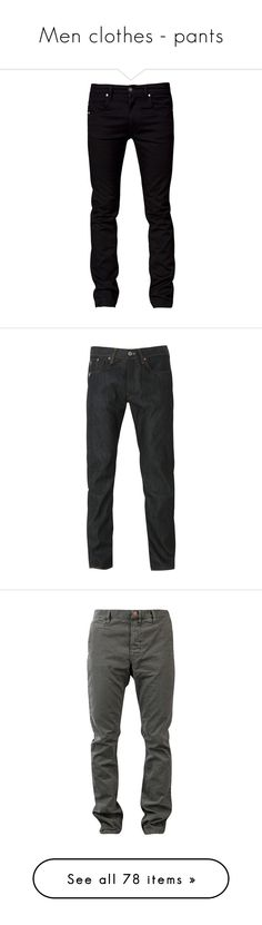"""""""Men clothes - pants"""" by nika-love ❤ liked on Polyvore featuring jeans, men, pants, bottoms, guy, tiger of sweden, men's fashion, men's clothing, men's jeans and menswear"""