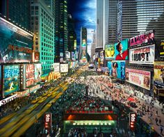 """Day to Night − Times Square, NYC"" by Stephen Wilkes"