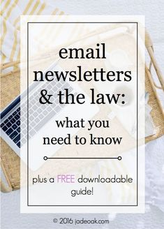 Email Newsletters and the Law - what you need to know. As email marketing and…
