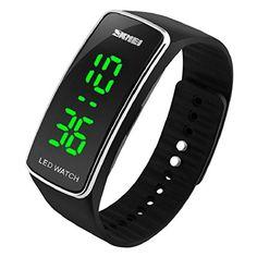 Sannysis® Silicona LED Deporte pulsera táctil reloj de pulsera digital (Negro) - http://complementoideal.com/producto/tienda-socios/sannysis-silicona-led-deporte-pulsera-tctil-reloj-de-pulsera-digital-negro/