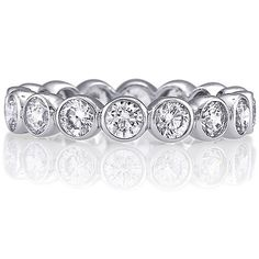 Sterling Silver Ring Round Bezel Cubic Zirconia CZ Eternity Band - Women's Valentine Gift Band Ring BERRICLE. $47.99. Stone Type : Cubic Zirconia. Gender : Women. Stone Total Weight (ct.tw) : 1.5. Metal : Stamped 925