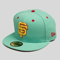 size 40 18bf9 8173d Mitchell And Ness Snapbacks · New Era - SF Giants New Era Fitted Cap in  Castro Teal