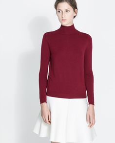 Image 2 of HIGH COLLAR SWEATER from Zara