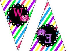 FREE Owl Pennants/bunting to print and decorate your owl theme classroom. Enjoy!!