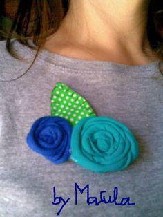 Broche rosas de trapillo / MARULA - Artesanio