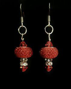 Red hot Glamour Swarovski dangle earrings Dangle Earrings, Dangles, Swarovski, Jewelry Design, Charmed, Glamour, Personalized Items, Elegant, Hot