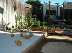 At home bocce court.