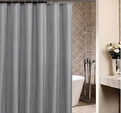 highgrade thickened grey grides polyester fabric shower curtain fashion bathroom accessory waterproof