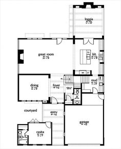 prairie style house plan - 4 beds 4.5 baths 3716 sq/ft plan #80, Hause ideen