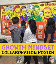 Encourage a Growth Mindset in your classroom and in your school community with this large, visually-engaging growth mindset poster. This fun, collaborative activity features inspirational quotes from famous persons. A great back to school activity!