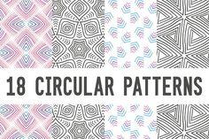 18 circular patterns set by pixelwerk on @creativemarket