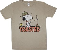 Peanuts Snoopy Toasted T-Shirt by Junk Food - Only Junk Food Tees, Old School Cartoons, Peanuts Snoopy, Personalized T Shirts, Casual Elegance, Custom T, Cool Tees, Shirt Designs, Tee Shirts