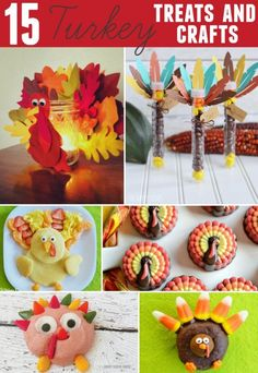 Turkey treats and crafts featured on Simply Designing