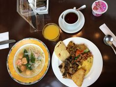The Indonesian fusion breakfast at the Park Lane Jakarta Hotel. Read my full review on Halimabobs.com #travel #hotelreview #travelblog