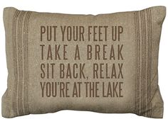 Pillow - Put Feet Up