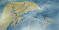 Bloody Jack: A Ship's Boy by Alyssa L. Tanner, via Behance #adventure #kite #painting #ocean #girl