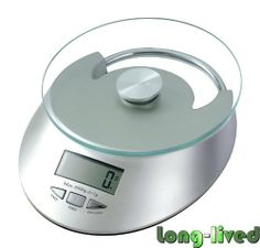 "Digital Kitchen Scale w/ Large LCD & Tempered Glass Platform and 5Kg/11 Lb Capacity, Silver by Phenitech. Save 56 Off!. $21.99. Large LCD screen displays weights in pounds (lbs), grams, and ounces.. Easy to use multifunction home scale - Perfect for cooks, dieters, postal and families. Equipped with a high precision ""stain-guage"" sensor and high capability CPU to ensure the weighing accuracy.. Finished in a new modern design, this compact design is lightweight and easy storage. Powered…"