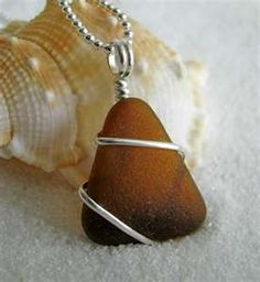 chocolate brown sea glass