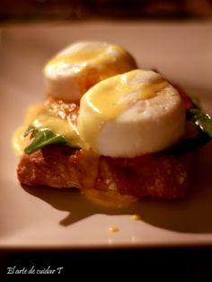 Huevos benedictine en El Perro y la galleta