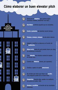 Cómo elaborar un Elevator Speech #Infografía