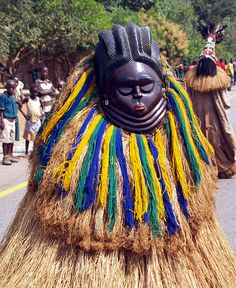 check the one in the background too! African Dance, African Art, Sierra Leone, All About Africa, African States, Liberia, The Beautiful Country, African Masks, Guinea Bissau