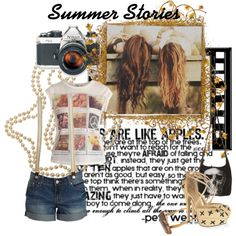 A fashion look from July 2012 featuring print t shirts, blue shorts and high heels sandals. Browse and shop related looks. Summer Story, Novels, Fashion Looks, Polyvore, Stuff To Buy, Shirts, Shopping, Tops, Design