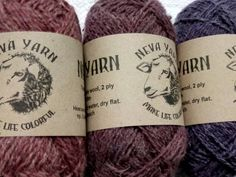 Pure Hand Dyed 100% WOOL YARN TRIO Lot of 3x50 g Melange Pink-Purple Shadow. Great gift for knitting lovers. Neva Yarn Made in Russia A5/13 from NevaYarn on Etsy Studio