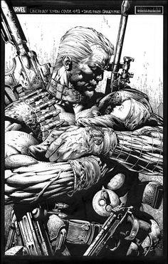 Cable by David Finch & Danny Miki Comic Style Art, Comic Styles, Sr1, Marvel Comics Art, Comic Drawing, American Comics, Comic Artist, Comic Books Art, Cool Artwork