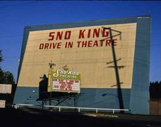 Sno King Drive-In Movie Theater Lynwood Washington Color Photo Print Drive In Movie Theater, Press Photo, Vintage Images, Movies, King, Color, Ebay, Things To Sell, Films