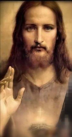 Christian Paintings, Christian Artwork, Christian Images, Jesus Our Savior, King Jesus, God Jesus, St Anne Prayer, Jesus Christ Images, Jesus Face