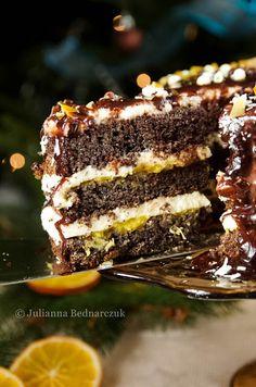 Obiad gotowy!: Tort makowy z pomarańczą Sweet Recipes, Cake Recipes, Dessert Recipes, Cupcakes, Cake Cookies, Chocolate Dreams, Polish Recipes, Sweet Cakes, Something Sweet