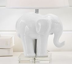 If I can find it cheaper...it would be perfect!! Ceramic Elephant Base #pbkids