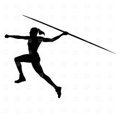 woman throwing javelin | Clipart Catalog / Sport and Leisure / Women's javelin, download ...