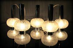 Vintage italiaanse xl cluster design lampen lumina vintage