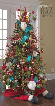 I don't love the tree skirt but the colors on the tree are awesome!