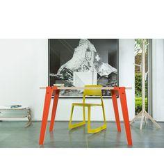 Bílý jídelní/pracovní stůl rform Switch, deska 122x63 cm