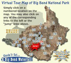 Big Bend National park interactive tour